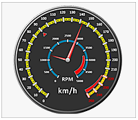 Ssrs gauge multiple axes