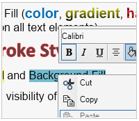 Nevron rich text editor character formatting