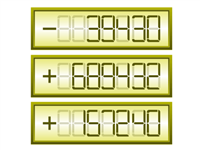 Gauge numeric display seven segment rounded