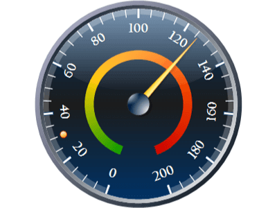 Radial gauge with custom ranges