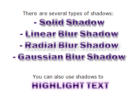 Chart labels shadow styles
