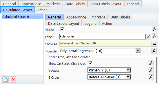 Share Point Polynomial Trend Line properties