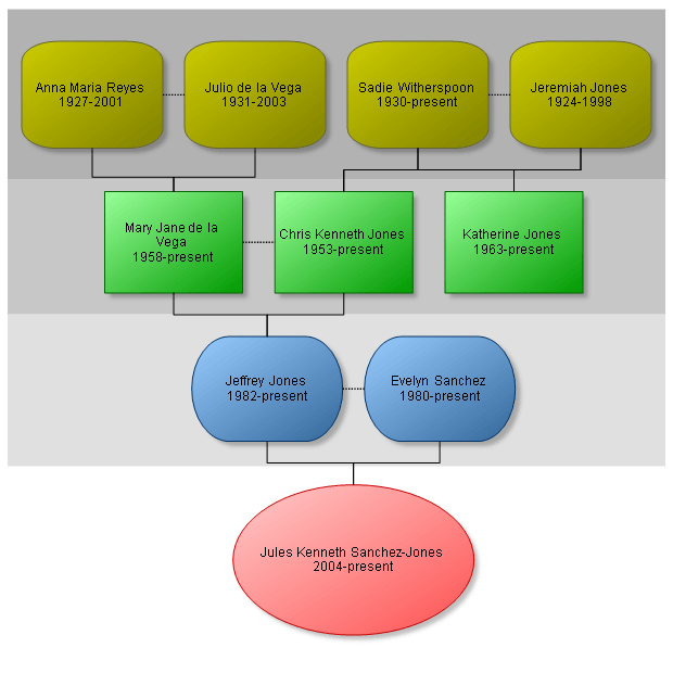 Hierarchical organizational chart