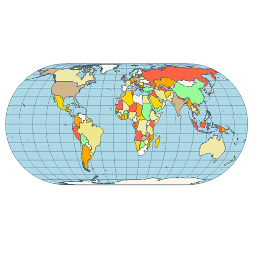 Map eckert I V projection
