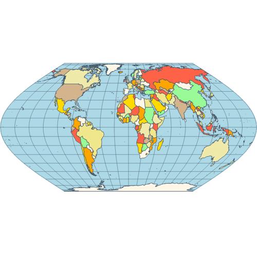 Map eckert vi projection