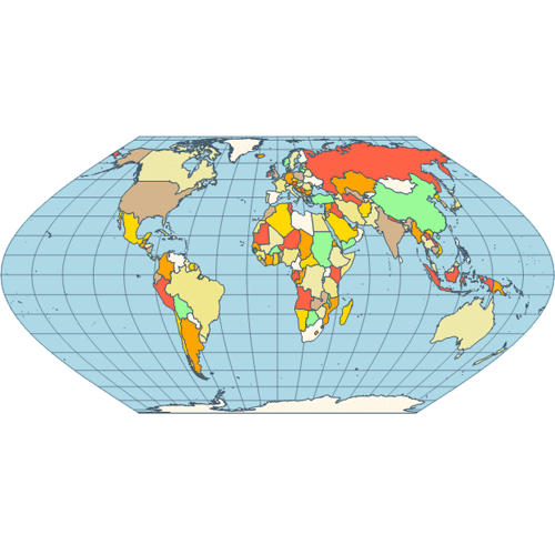 Map eckert vi projection