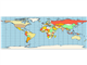 Map equirectangular projection