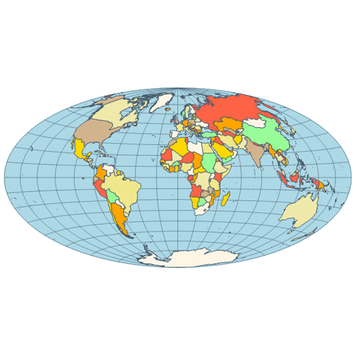Map hammer projection