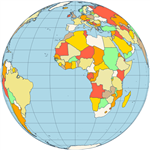 Map orthographic projection