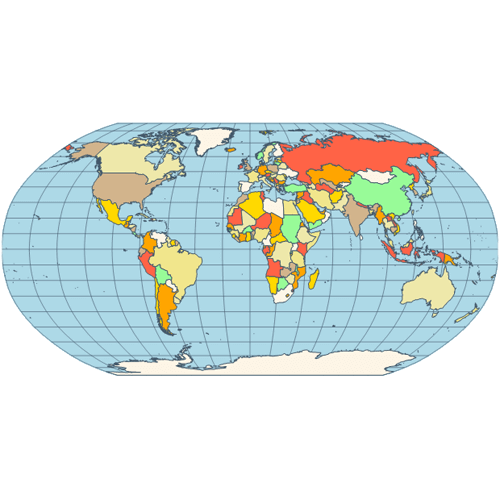 Map robinson projection