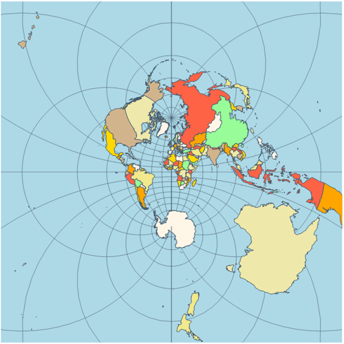 Map stereographic projection
