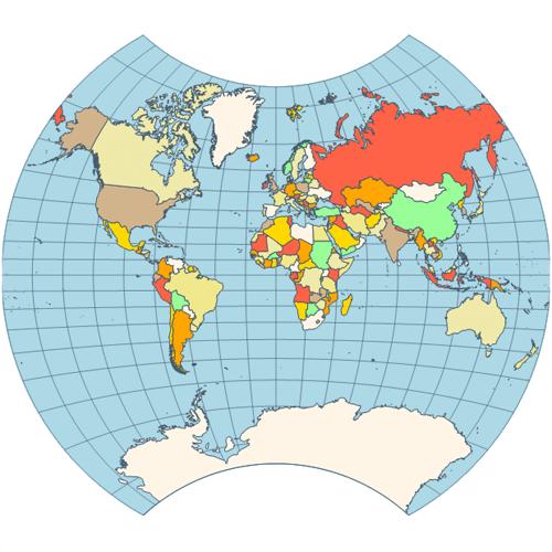 Map vander grinten projection