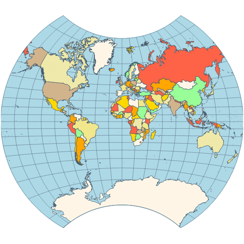 Map vander grinten projection