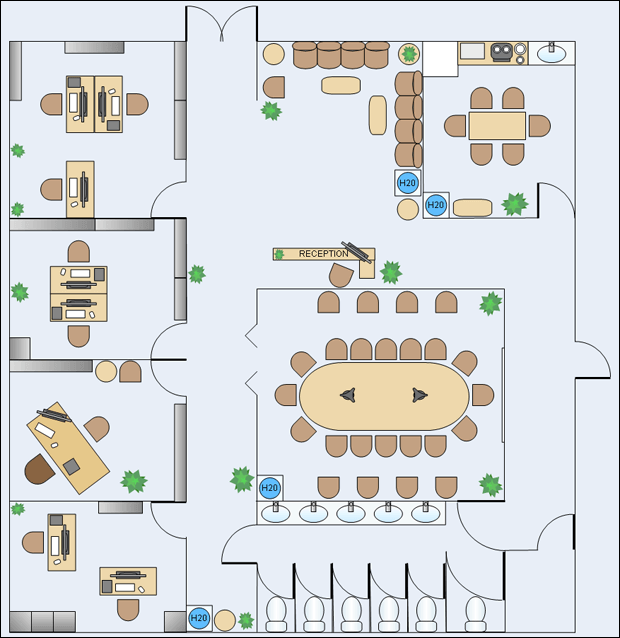 Nevron diagram floorplan