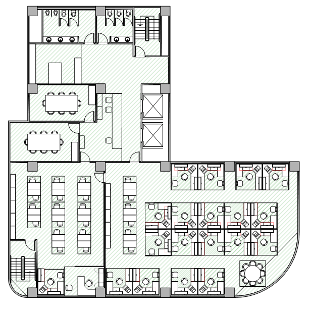 Nevron diagram office floor plan