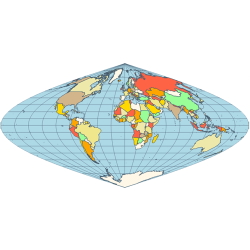 Map bonne projection