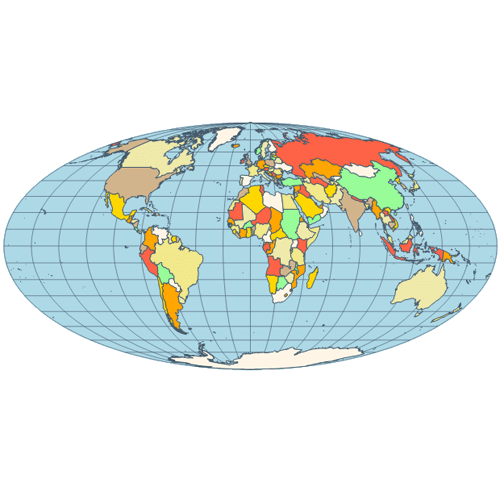 Map mollweide projection