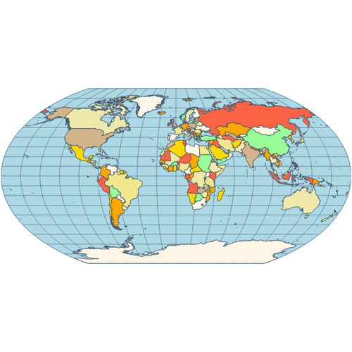 Map wagner vi projection
