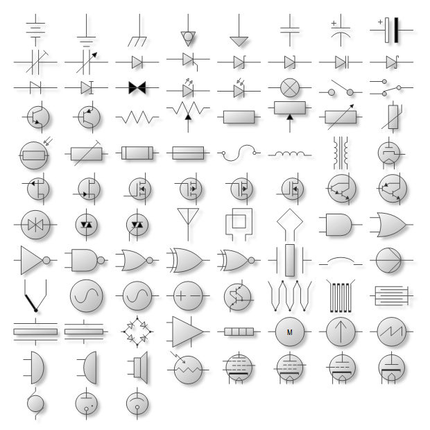 Electrical symbol shapes