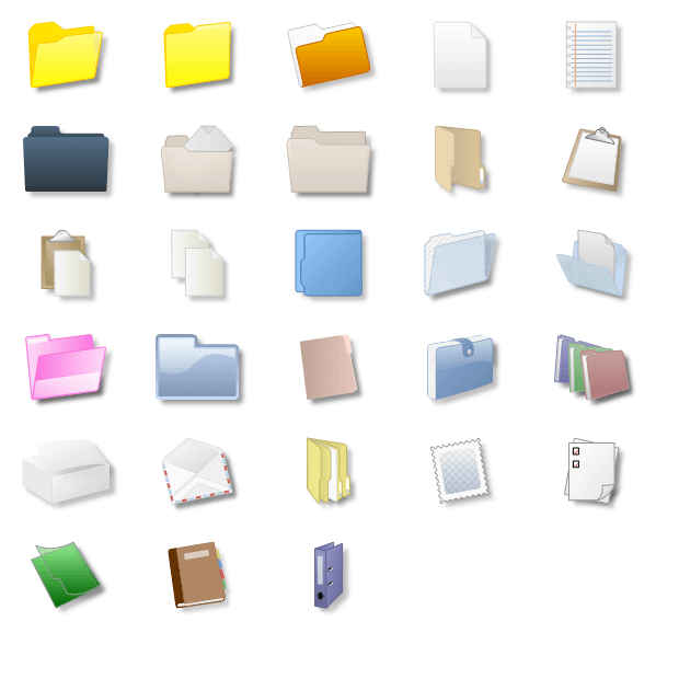 Files and folders shapes
