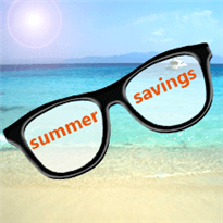 Summer savings square banner 2014