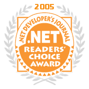dot net readers award 2005