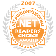 dot net readers award