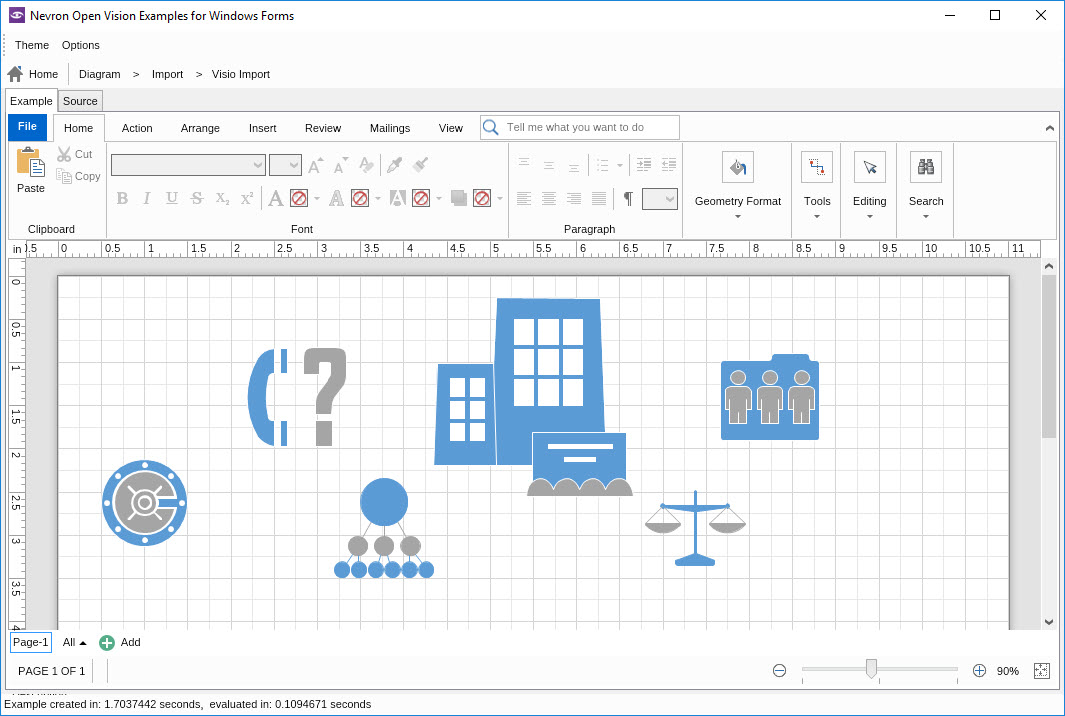 Nov diagram visio import