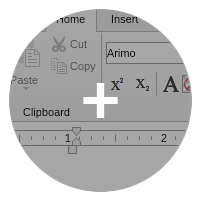 Rich text editor component ribbon ui small