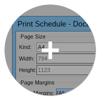 NO V schedule printing small
