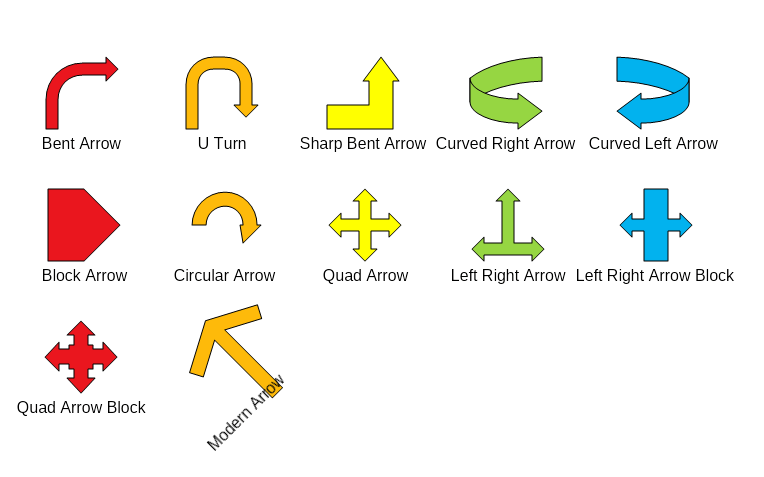Nov diagram arrow shapes