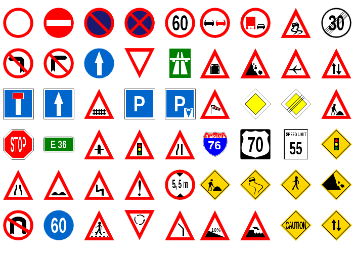 Nov diagram traffic signs shapes
