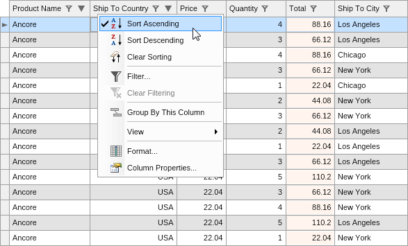 NET WinForms Grid Control, Windows Forms Data Grid Component