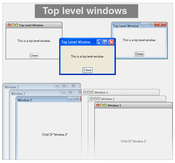 Top Level Windows