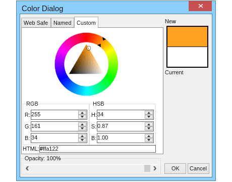 color dialog custom
